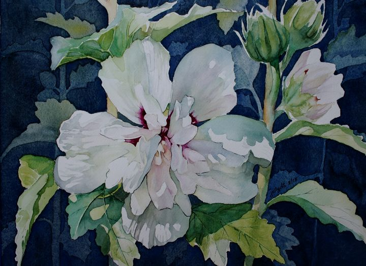White Chiffon Hibiscus - Jelly's Arts