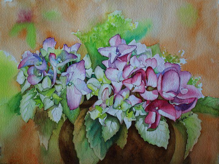 Purple Hydrangea - Jelly's Arts