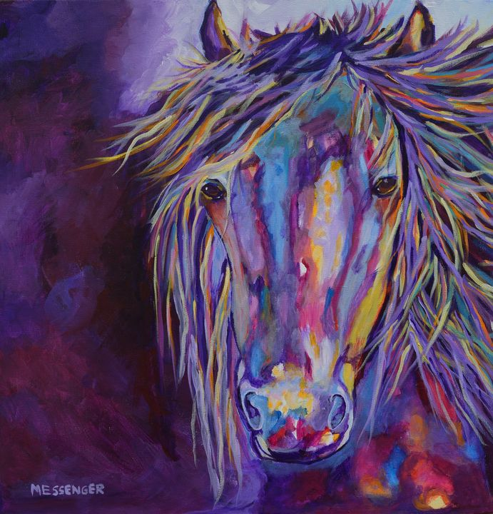 Weathering the Storm - Denise Messenger Horse Art