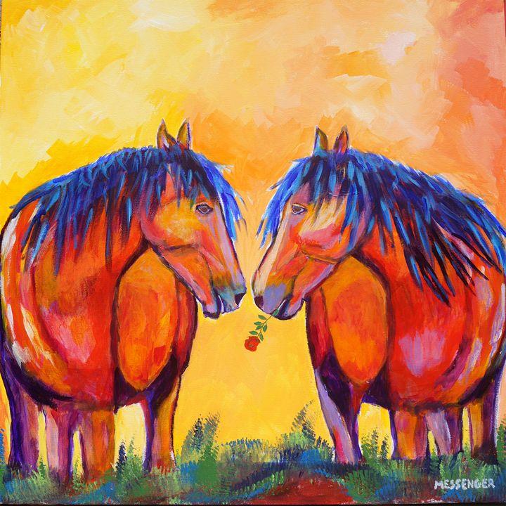 Mates Forever - Denise Messenger Horse Art