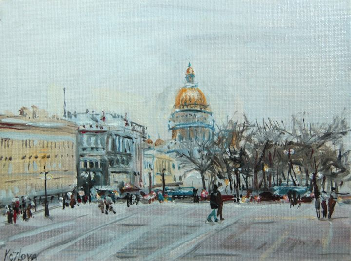 First lights on the Palace square. - K k gallery