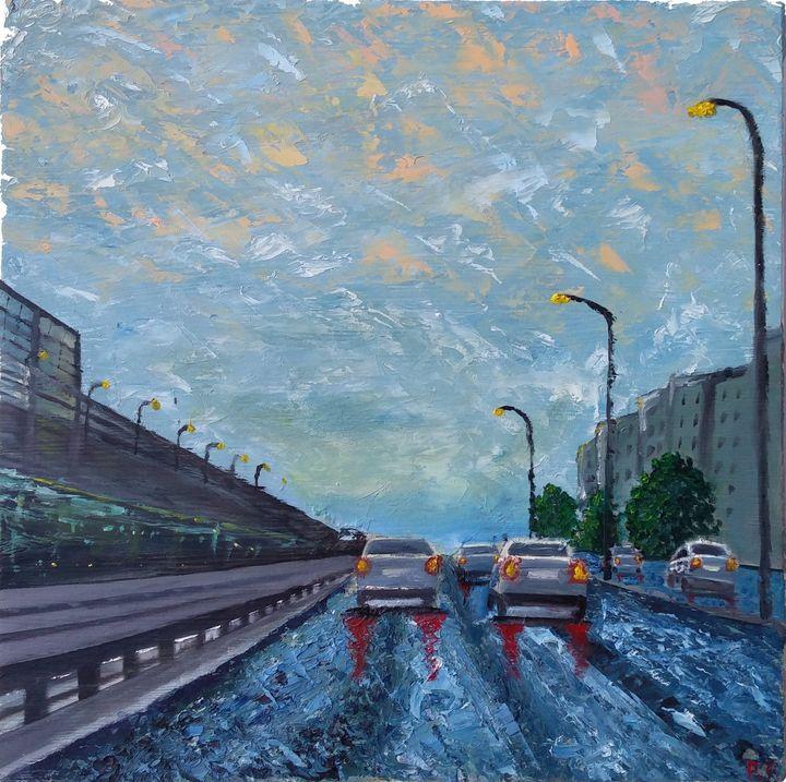 Rainy Interstate 95 - Pavan Patel