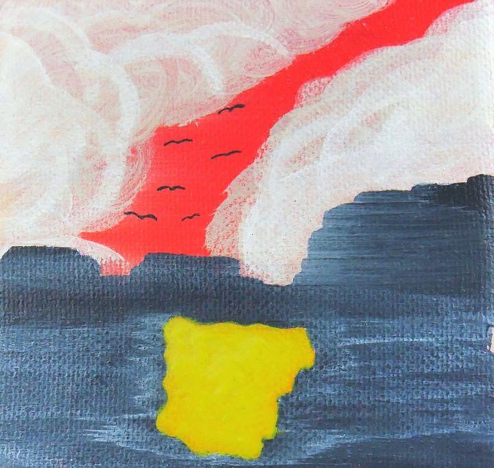 Birds at Sunset - Zoey's Art Designs