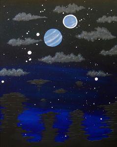 Pillars at Moonset