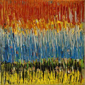 colorful line sculpture