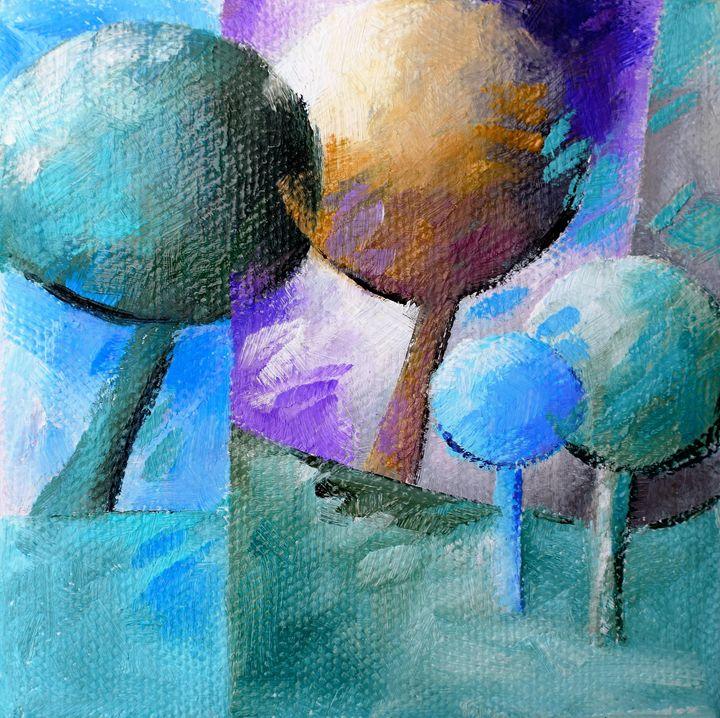 Blue trees 005 - Beatrice BEDEUR