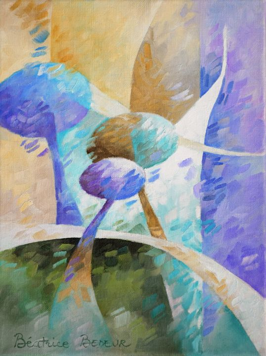 Brown & purple 052 - Beatrice BEDEUR