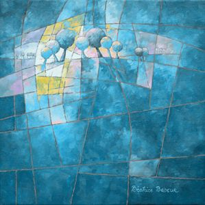 Clear blue figurative 088 - Beatrice BEDEUR