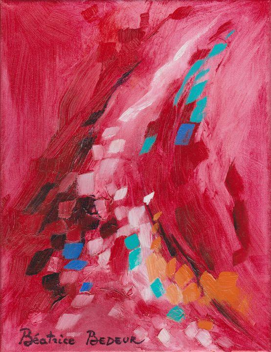 Abstrait rouge - Beatrice BEDEUR