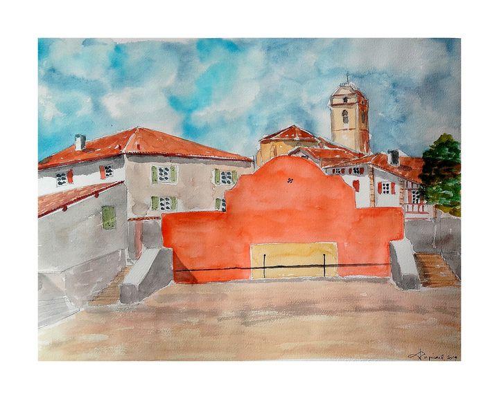 Le fronton d'Urrugne au Pays Basque - Dupicard