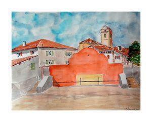 Le fronton d'Urrugne au Pays Basque