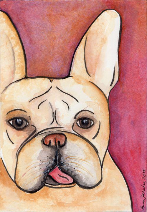 Sweet French Bulldog - Animals Art Visions