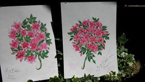 Azalea & Clematis Print Pair