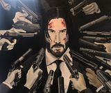 John Wick Oil Painting