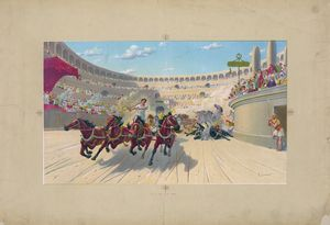 The Ben-Hur Chariot Race (c1880)