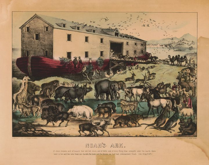 Noah's Ark by Currier & Ives 1868-78 - Yvonne