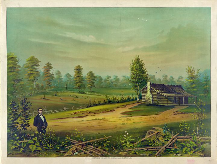 Pioneer Home of Abraham Lincoln 1890 - Yvonne