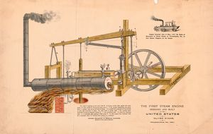 Diagram First U.S. Steam Engine 1801
