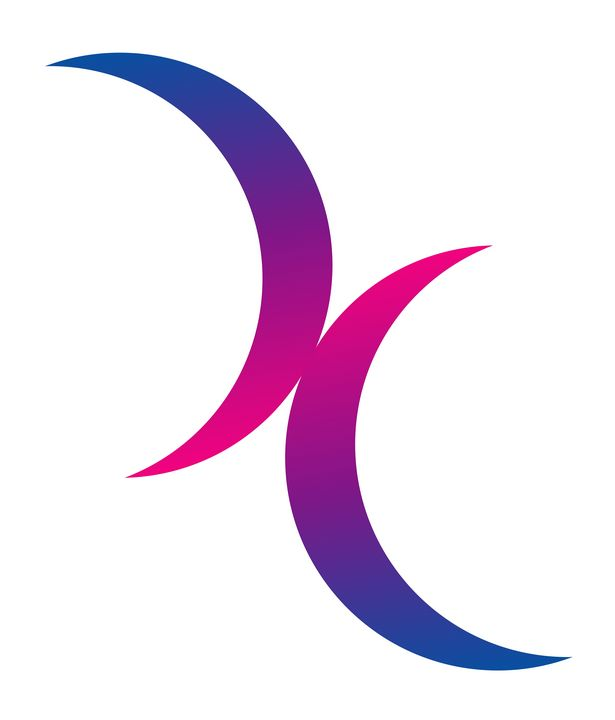 Double Crescent Moon Bisexual Pride - Yvonne