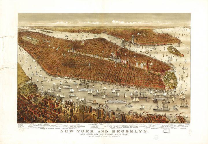 New York and Brooklyn (1877) - Yvonne