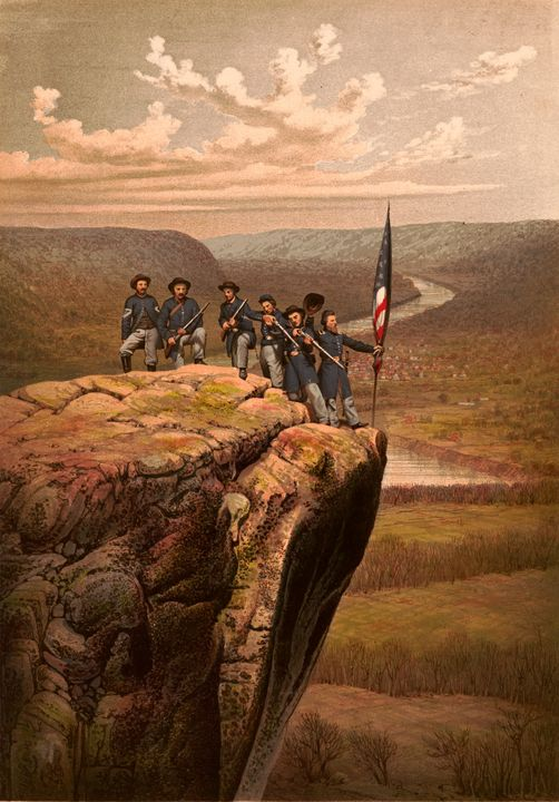 Union soldiers at Point Lookout - Yvonne