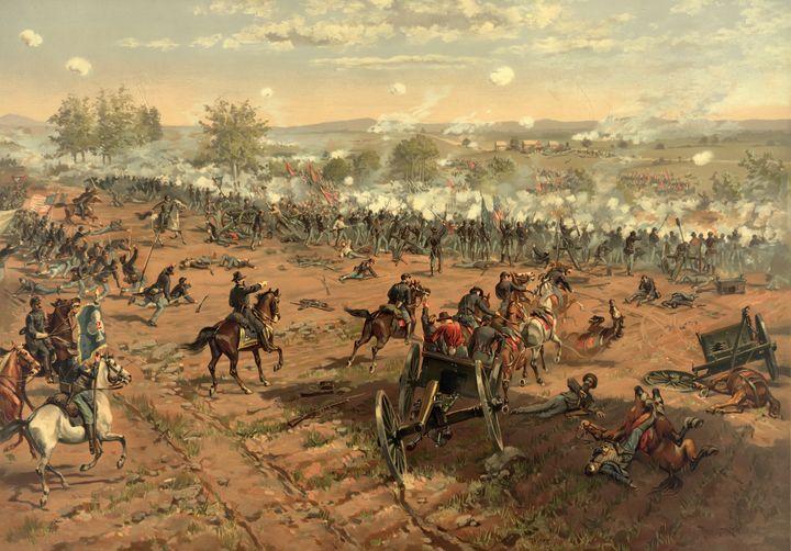 Hancock at Gettysburg by Thulstrup - Yvonne
