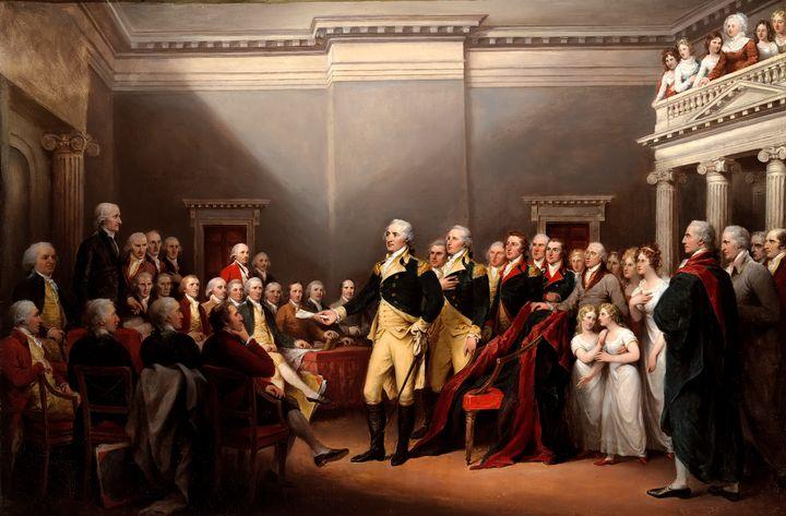 Washington Resigning his Commission - Yvonne