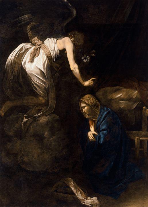 Annunciation by Caravaggio (1608) - Yvonne