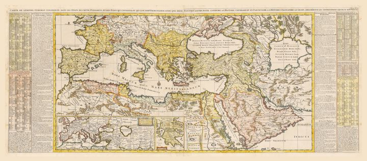 Ottoman Empire Map by Chatelain 1719 - Yvonne
