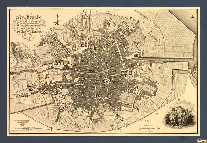 Map Of Dublin 7 Ireland.Map Of Dublin City Ireland 1797 Yvonne Drawings