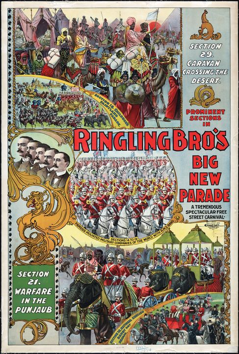 Ringling Brothers Circus Poster 1899 - Yvonne