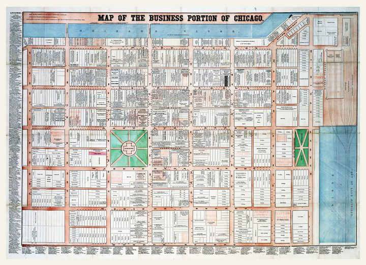 Business Portion of Chicago (1862) - Yvonne