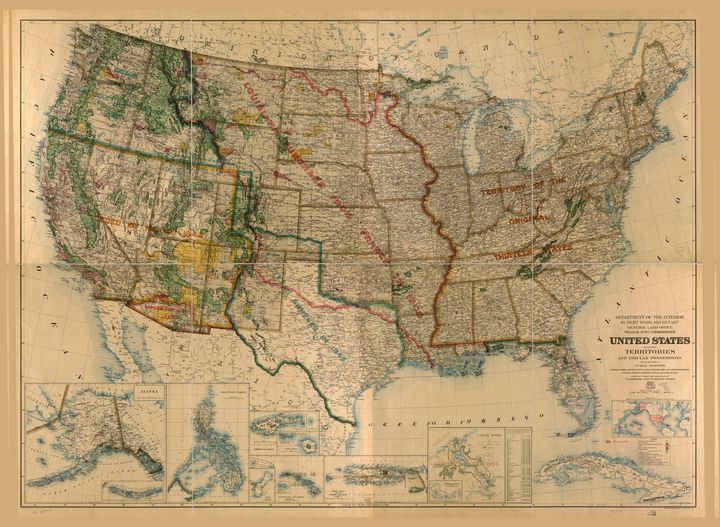 United States Map (1923) - Yvonne