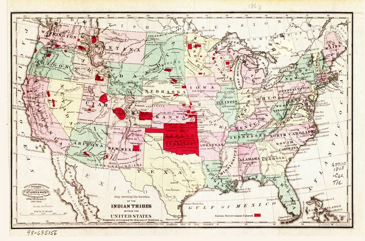 Indian Tribes within the U.S. (1868) - Yvonne