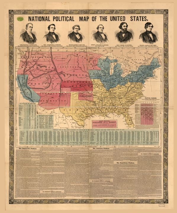 National Political Map (1856) - Yvonne