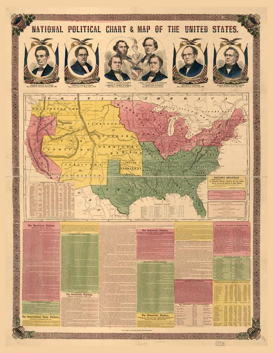 National Political Map (1860) - Yvonne