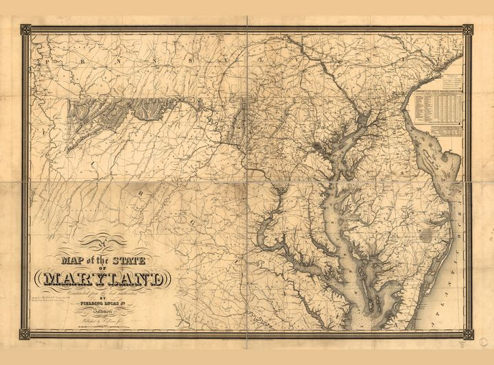 Map of the State of Maryland (1841) - Yvonne