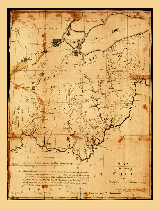 Map of the State of Ohio (1805) - Yvonne