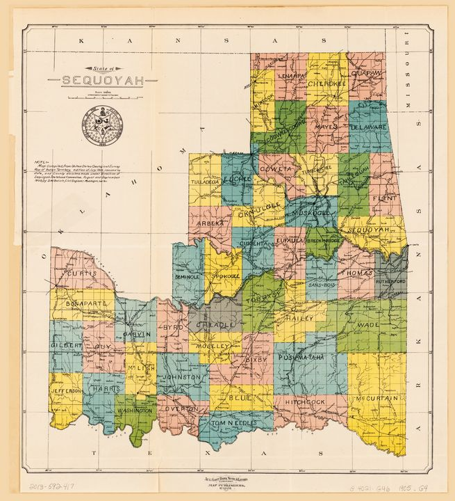 State of Sequoyah, Oklahoma (1905) - Yvonne