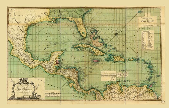 General Chart the West Indies (1796) - Yvonne