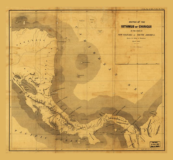Isthmus of Chiriqui Map (1860) - Yvonne