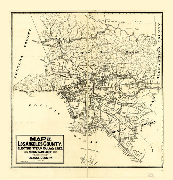 Map of Los Angeles County (1912) - Yvonne