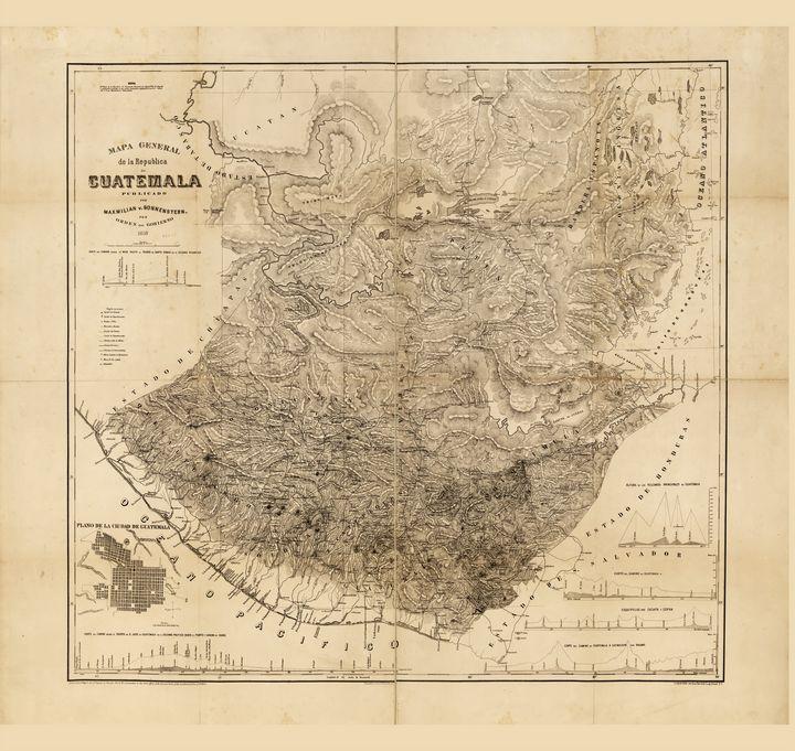 Map of Guatemala (1859) - Yvonne