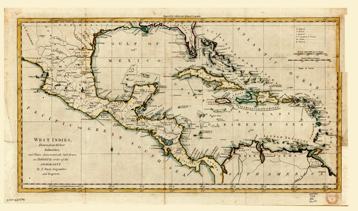 Map of the West Indies (1785) - Yvonne