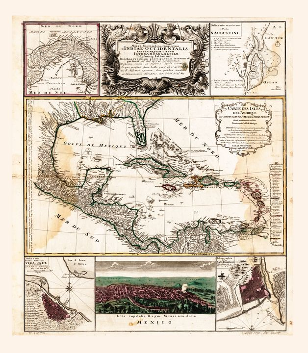 Map of the Caribbean (1781) - Yvonne