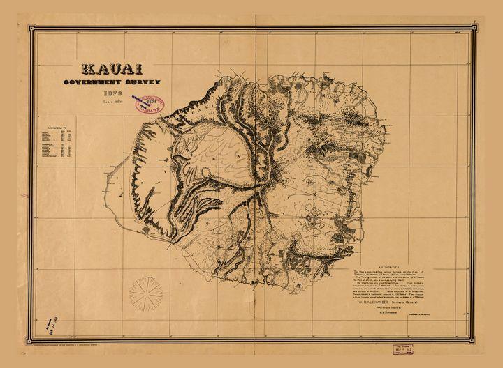 Kauai Government Survey Map (1878) - Yvonne