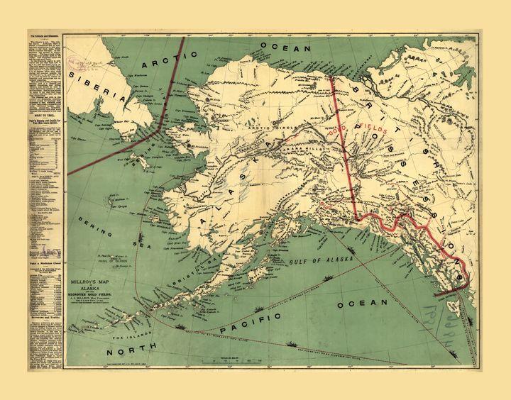 Map of Alaska by J. Millroy (1897) - Yvonne