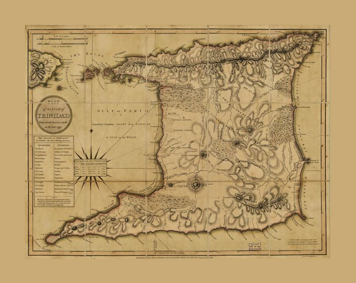 Map of the Isle of Trinidad (1797) - Yvonne
