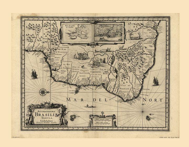 Accuratissima Brasiliæ Tabula (1630) - Yvonne