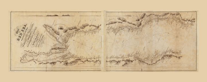 Map of the Red Sea (circa 1830) - Yvonne